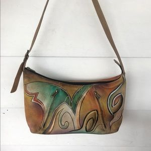 Anushka brown leather shoulder bag